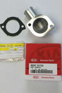 1998-2004 Kia Sephia Spectra Engine Coolant Thermostat Cover AND Gasket Set