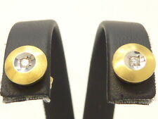 Ohrringe earrings 585 GOLD Weißgold boucle d'oreille or Diamant diamond 14kt