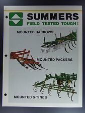 Summers Harrows Packers S-Tines Dealers Brochure Tractor Farming
