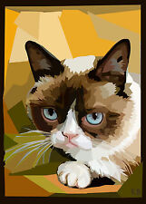 ACEO - SIAMESE CAT - LIMITED EDITION PRINT 50-R.BOZZETTI- 15-10