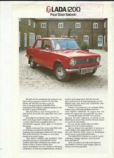 LADA 1200 FOUR DOOR SALOON 'SALES BROCHURE'/SHEET 1979 1980