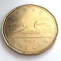 1987 Canada One 1 Dollar Loonie Canadian Brilliant Uncirculated Coin L010