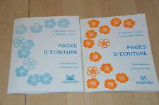 lot 2 livres scolaires : Pages d'écriture / CE2 - Cahier Pervenche et Capucine