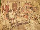 "Vintage Tapestry Musical Asian Scene 70"" x 50"" Geisha Girl Made in Belgium"