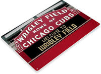 TIN SIGN Wrigley Field Chicago Cubs Baseball Field Sign A192