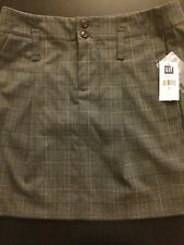NWT GAP gap stretch Juniors Black Brown Gray Plaid Skirt Polyester Blend Size 0