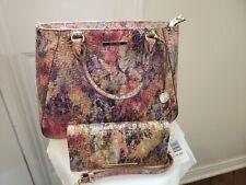 Brahmin Small Irene Amethyst Melbourne Leather Satchel Shoulder Bag