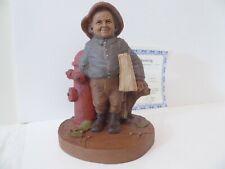 Tom Clark + Newspaper Boy + Cairn Gnome # 325 Coa True Builders of America