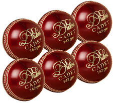 6 x Pack Dukes Cadet Match Leather Cricket Balls Youth 4 3/4oz (142g)