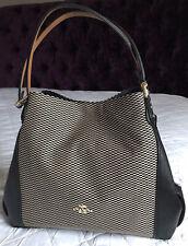 COACH Edie Black Jacquard Hand / Shoulder / Grab Bag - New - RRP £325