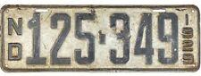 *99 CENT SALE*  1929 North Dakota License Plate #125-349 No Reserve