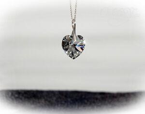 Swarovski Elements Herz Anhänger mit Kette Silber 925, Herzkette CAL NEU