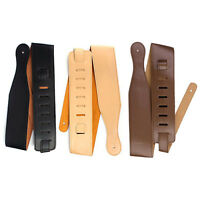 Adjustable Soft Leather Thick Strap for Electric Acoustic Guitar Bass 3 C Dzyj