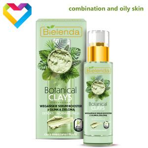Bielenda Botanical Clays GREEN CLAY Face Serum For Combination Skin VEGAN 30ml