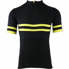 Torm T1 merino SportWool cycling jersey - Black/Yellow - XS