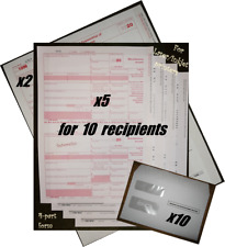 2020 Irs Tax Forms Kit: 1099-Misc Laser 10 recipients+envelopes+(2)1 096 #Tf6103