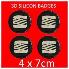 SEAT Copricerchi Center hub caps badge Emblema Adesivo 70 mm-Set di 4