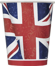 Best of British Union Jack 9oz Paper Cups Pack of 8