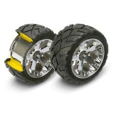 """Traxxas 5577R Mirror-Chrome All-Star 2.8"""" Wheels/Anaconda Tires (2) Front : Jato"""