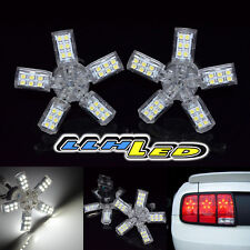 2X 40 SMD 3157 3457 5ARMS SPIDER TURN WHITE REAR BRAKE LAMP LED TAILLIGHT BULB A