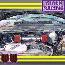 DUAL 04 05 06-11 DODGE DAKOTA/DURANGO/RAM/NITRO 3.7L V6 TWIN AIR INTAKE KIT Red
