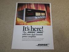 Bose 1801 Amplifier Ad, 1975, 1 pg, Color, Beautiful!