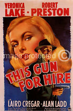 This Gun For Hire Vintage Movie Poster  18x24