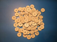 """100 AGGLOMERATED  CORK RINGS 11/4""""X1/2"""" LARGE GRAIN  BORE 1/4"""""""