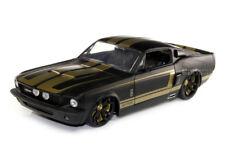 1967 SHELBY GT500 GT 500 DIE CAST MATT BLACK W/ GOLD 1/18 NEW JADA LOPRO 96626
