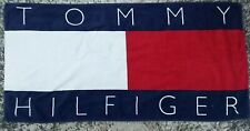 Vintage 90's Tommy Hilfiger Classic Flag Style 56x27 Graphic Beach Towel