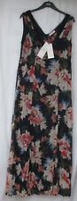 Ladies Marks and Spencer per Una Navy Red Beige Mix Floral Maxi Dress Size 16