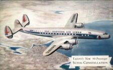 Eastern Super Constellation Airplane Vintage Airline Issued Postcard