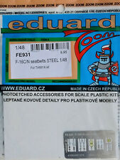 Eduard 1/48 FE931 Colour Steel Etch Seatbelts - Tamiya  F-16C/N Falcon kit