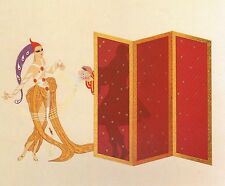 "CLASSIC ERTE' ART DECO BOOK PLATE PRINT ""MYSTERY OF COURTESAN"""