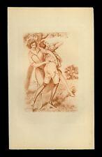 1923 Louis Malteste héliogravure époque sanguine vélin teinté curiosa fessée