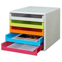 Bambus Schubladenbox Bürobox Ablagebox Briefbox Systembox Sammelbox 5 Ablagen