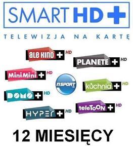 TNK Smart HD+ Multi+ 12M Doladowanie Express Telewizja na karte Aufladung