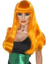 Accessorio Costume Halloween Parrucca Strega Arancione Smiffys *11830
