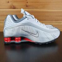 Nike Shox R4 Shoes White Metallic Silver BV1111-100 Retro Men's 10