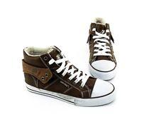 Sneaker Criss Cross High Top Schnürer Kunstleder braun Gr. 38