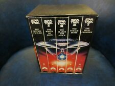 1991 Star Trek The Movie 25th Anniversary Set 5 Vintage Vcr Vhs Tapes