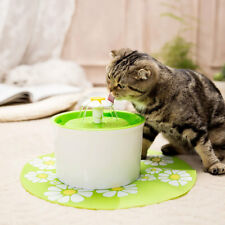 Flower Fountain Automatic Water Dispenser Activated Carbon Filters Pet Dog Cat