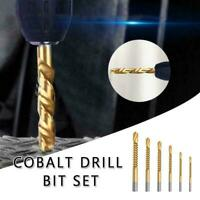 1/6x Cobalt Drill Set Metric Spiral Screw Compound Tap Drill Bit Twist Drill Set