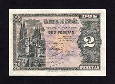 F.C. 2 PESETAS ABRIL 1938 , SERIE G , EBC+ .