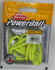 """BERKLEY POWERBAIT 3"""" FLOATING  TROUT WORMS - CHARTREUSE PBHFTW3-CH 15CT"""
