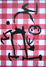 """Joan Miró vintage impresión litografía montado, 1972, 14 X 11"""", indeleble Miro IM128"""