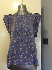 H&M Size 14 Blue Floral Top