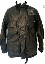 BARBOUR INTERNATIONAL STEVE MCQUEEN JOSHUA 4OZ WAX MENS JACKET BLACK SIZE S