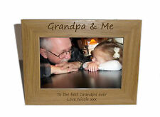 Grandpa & Me Wooden Photo Frame 6 x 4 - Personalise this frame - Free Engraving