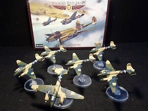 BLOOD RED SKIES Pe-2 squadron set with well painted planes